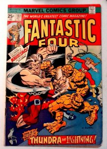 Fantastic Four #151 Marvel 1974 VG Bronze Age Comic Book 1st Print