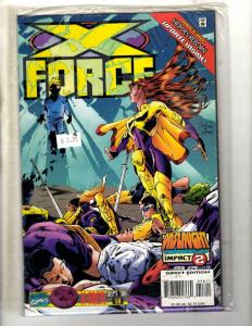 Lot Of 10 X-Force Marvel Comic Books # 56 57 58 59 60 61 62 63 64 65 Domino JD4