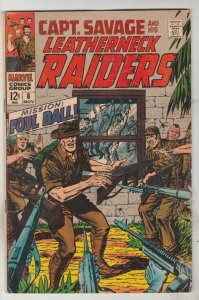 Captain Savage and His Leatherneck Raiders #8 (Nov-68) VG/FN Mid-Grade Captai...