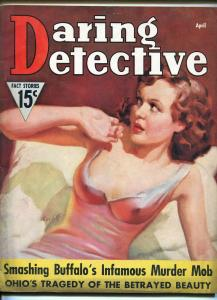 Daring Detective 4/1937-lingerie cover-Cardiff-pulp crime-Iron Skull-FN-