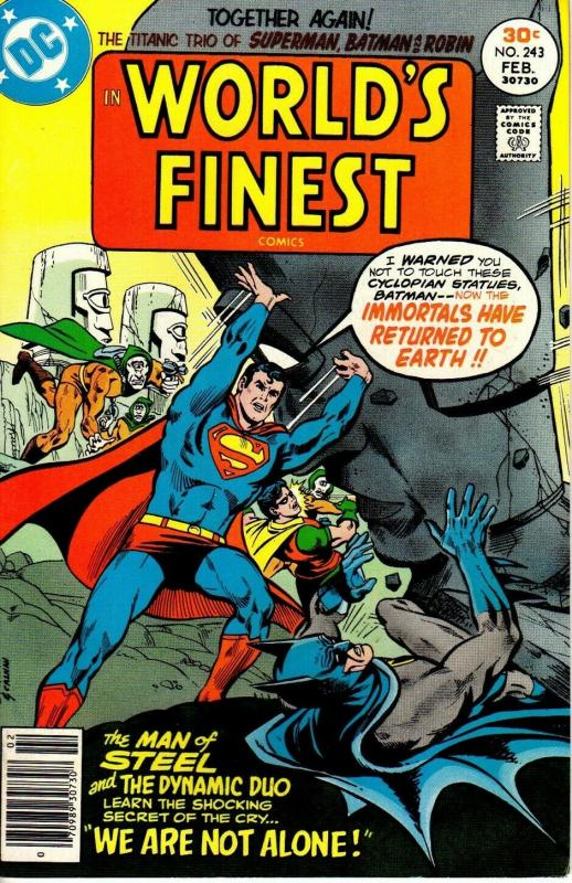 WORLDS FINEST (1941-1986  DC) 243 February 1977