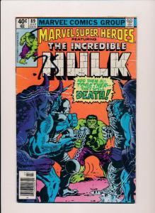 Marvel Super-Heros ft.THE INCREDIBLE HULK #89  FINE (SRU518)
