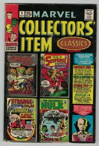 MARVEL COLLECTORS ITEM CLASSICS 5 VG-F OCT 1966