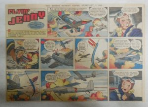 Flying Jenny Sunday Page by Russell Keaton from 2/7/1943 Size: 11 x 15 inches