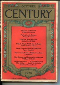 Century 10/1928-Flying In The Future-pulp thrills-G