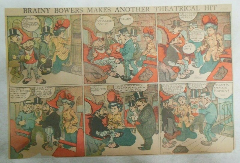 Brainy Bowers Makes Another Theatrical Hit ! Sunday 1/3/1904 Half Page Size!