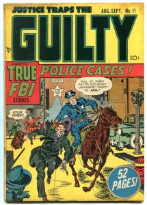 Justice Traps The Guilty #11 1949-Tom Horn Story-SIMON-KIRBY-SEVERIN- VG-