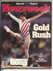 Newsweek 8/13/1984-Mary Lou Retton-1984 Olympics Special Report-VF