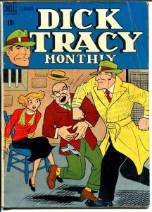 Dick Tracy  #13 1949-Dell-bondage cover-Chester Gould-VG