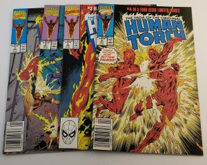 Human Torch #1-4 Complete Set Marvel Comics 1990 from FN/VF