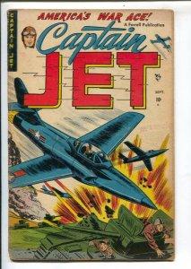 Captain Jet #3 1952-Ajax-fight the commies-bondage panels-Wright Brothers sto...