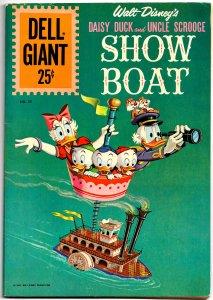 DELL GIANT #55 (1961) 8.0 VF Walt Disney Daisy Duck & Uncle Scrooge SHOW BOAT!