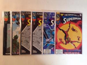 Adventures Of Superman 480 484 498 499 500 Near Mint Lot Set Run