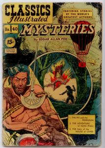 Classics Illustrated - Mysteries #40 HRN 92 GD/VG 3.0