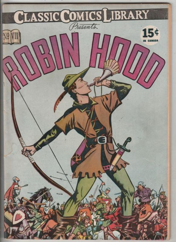 Classics Comics Library #7 (Jun-44) FN Mid-Grade Robin Hood, Maid Marrion, Fr...