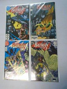 Batman run #436-439 Batman Year 3 issues avg 8.0 VF (1989)