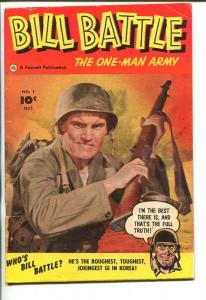 BILL BATTLE THE ONE MAN ARMY #1-1952-TORTURE-SOUTHERN STATES PEDIGREE-fn+