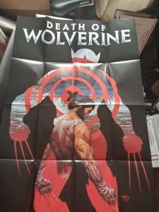 *THE DEATH OF WOLVERINE* 2014 PROMO Poster - MARVEL COMICS - 24x36 2'x3' NEW