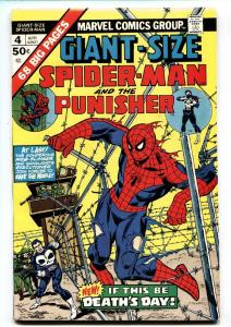 GIANT-SIZE SPIDER-MAN #4 comic book 1975 Marvel PUNISHER