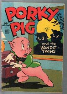 Porky Pig-Four Color Comics-#78 1945-Dell-Bandit Twins-Bugs Bunny-VG
