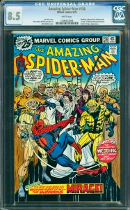 Amazing Spider-Man #156 CGC Graded 8.5 Wedding of Betty Brant & Ned Leeds. 1s...
