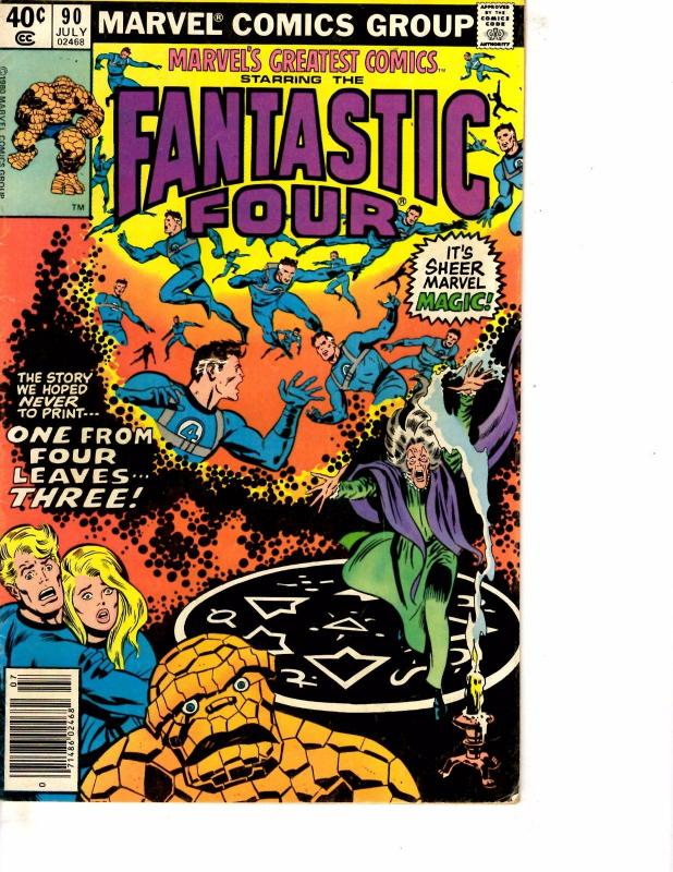 Lot Of 2 Comic Books Marvel Fantastic Four #90 and Handbook X-Men 2004 #1 MS9