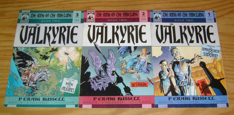 Ring of the Nibelung Book Two: the Valkyrie #1-3 VF complete series PCR set 2
