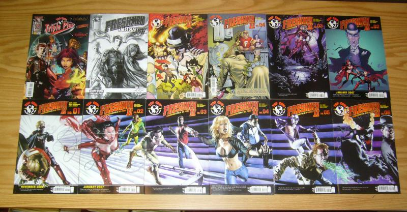 Seth Green's Freshmen II #1-6 VF/NM complete series + (4) variants +preview+more