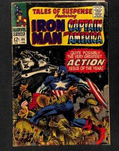 Tales Of Suspense #86 VG- 3.5 Iron Man Captain America!