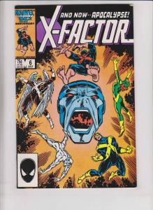 X-Factor #6 high grade key 1ST APOCALYPSE louise simonson - HUGE SCANS x-men
