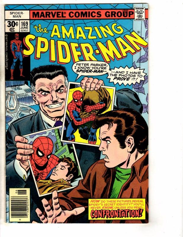Amazing Spider-Man # 169 VF Marvel Comic Book Goblin May Mary Jane Gwen J276