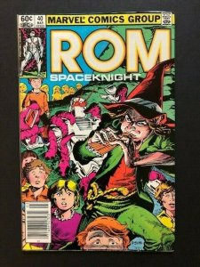 MARVEL ROM Spaceknight #40 PIPER OF PERIL Newstand Variant FINE/VERY FINE (A76)