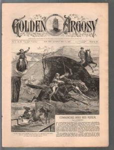 Golden Argosy #231 5/7/1887-Munsey-Argosy precursor-L.B. Woodward art-FN