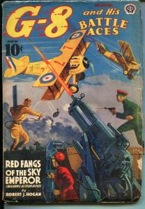 G-8 AND HIS BATTLE ACES  11/1939-HERR MATZU-DR CHULUNG-PULP FICTION-vg