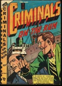 CRIMINALS ON THE RUN V.4 #5-PRE-CODE CRIME COMIC G/VG