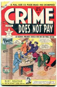 Crime Does Not Pay #79 1949- Golden Age- Fred Guardineer G
