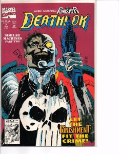 Marvel Comics Deathlok #7 The Punisher NM Denys Cowan