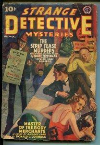 Strange Detective Mysteries 9/1939-John Howitt-Tepperman-pulp-strip tease-G/VG