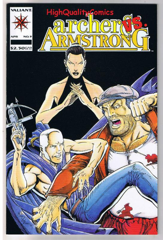 ARCHER and ARMSTRONG #9, NM+, Bar Fight, Pool, 1992,  more Valiant in store
