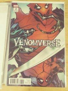 Venomverse  #3 2017 marvel elizabeth torque Variant eddie brock poison spiderman