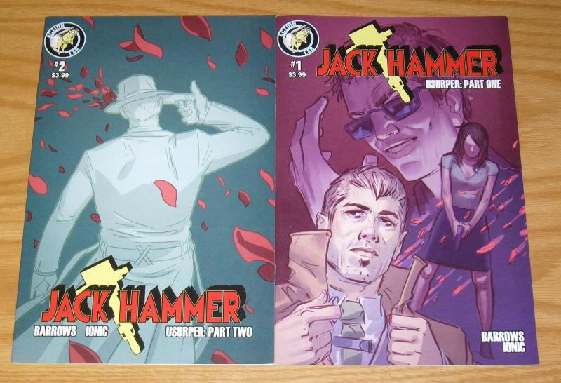 Jack Hammer: Usurper #1-2 VF/NM complete series - action lab - private detective