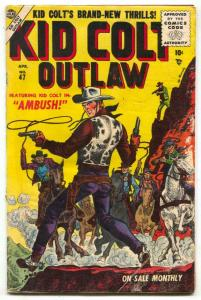 Kid Colt Outlaw #47 1955- Maneely cover- Atlas Western F/G