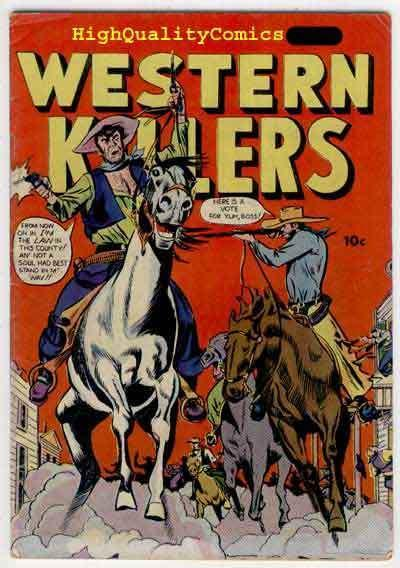 WESTERN KILLERS, VG+ to FN, Western, 1948, Guns, Posse, Pre-code, F&J