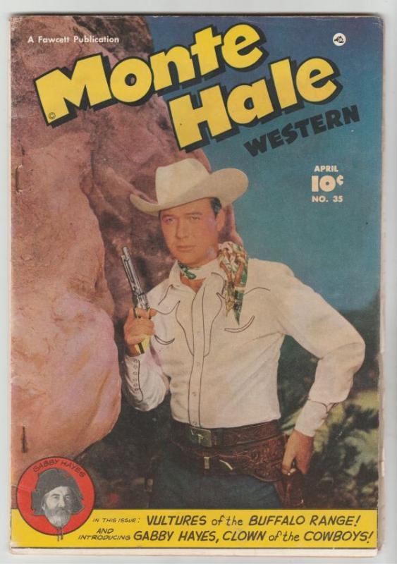 Monte Hale Western #35 (Apr-49) FN+ Mid-High-Grade Monte Hale, Gabby Hayes