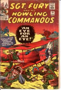 SERGEANT FURY 19 GOOD June 1965 COMICS BOOK
