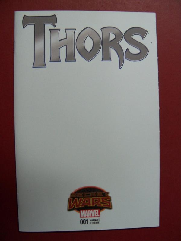 THORS, SECRET WARS,  #1,  BLANK VARIANT COVER