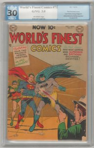 World's Finest Comics #71 PGX 3.0 GD/VG '54 DC Comics ~ Curt Swan 1st Team Up!!!