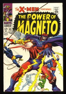 X-Men #43 FN/VF 7.0 Marvel Comics Magneto!