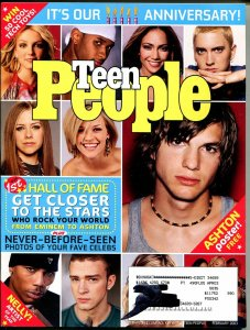 Teen People 2/2003-Ashton Kutcher-Nelly-Justin Timberlake-Eminem-FN/VF