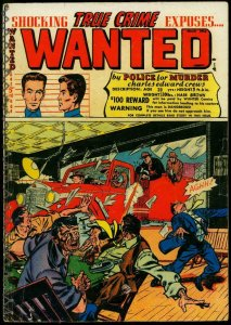 Wanted #46 1952- Tommy gun cover- Kansas City Killer FAIR